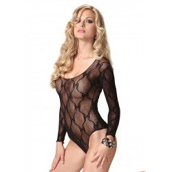 BOW LACE LONG SLEEVED TEDDY OS Body Body
