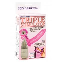 ULTIMATE TRIPLE STIMULATOR Kétágú pink Kétágú