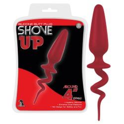 Shove up - kunkori farkincás anál dildó (piros) - nagy Anál Anál